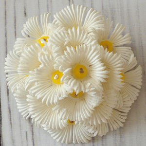 SOLD vintage soft plastic flower bunch brooch pin